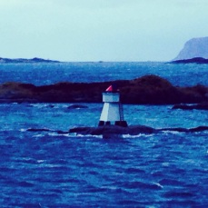 LIghthouse leaving Alesund