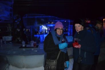 A drink at the ice bar!