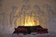 A room in the snow hotel
