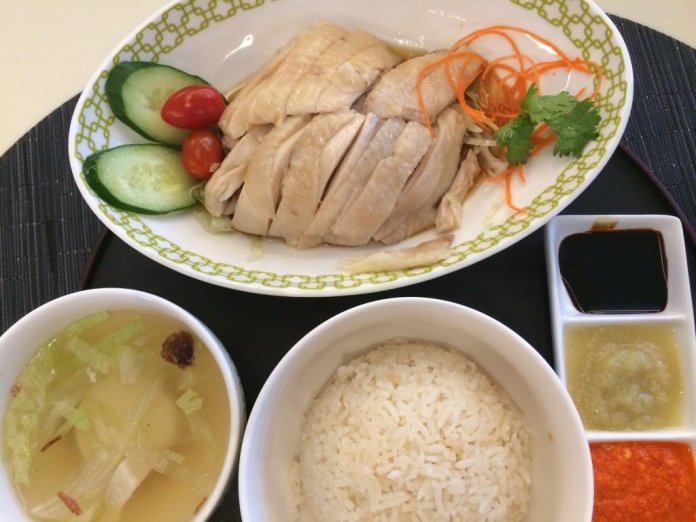 The famous chicken rice