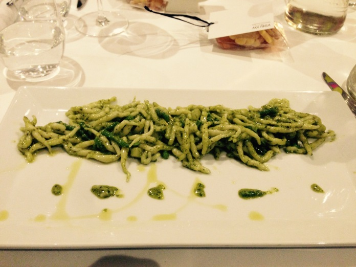 Trofie with basil pesto
