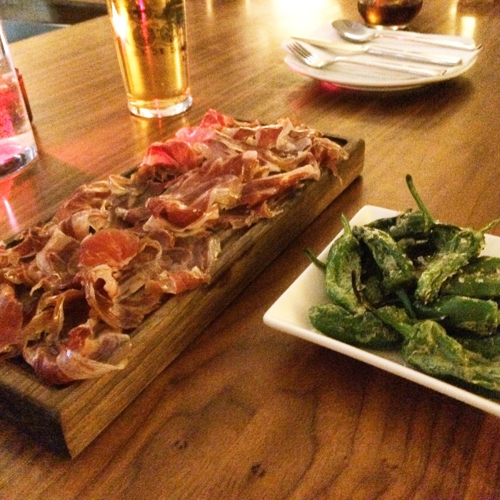 Iberico ham & padron peppers
