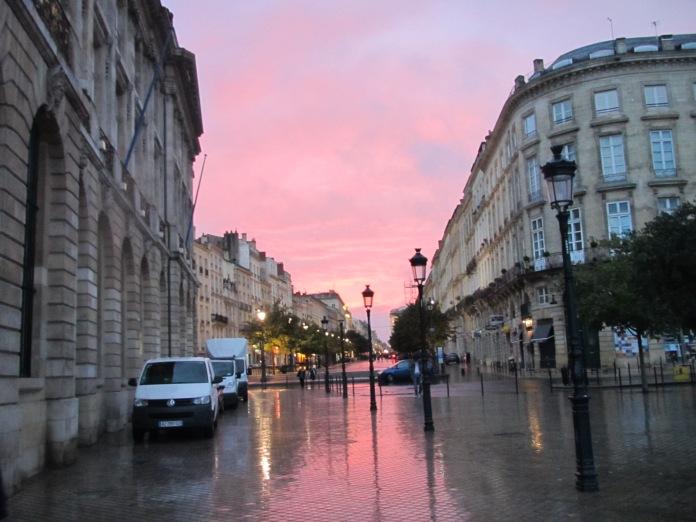 Sunset in Bordeaux