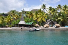 Taking a boat to Anse Momin