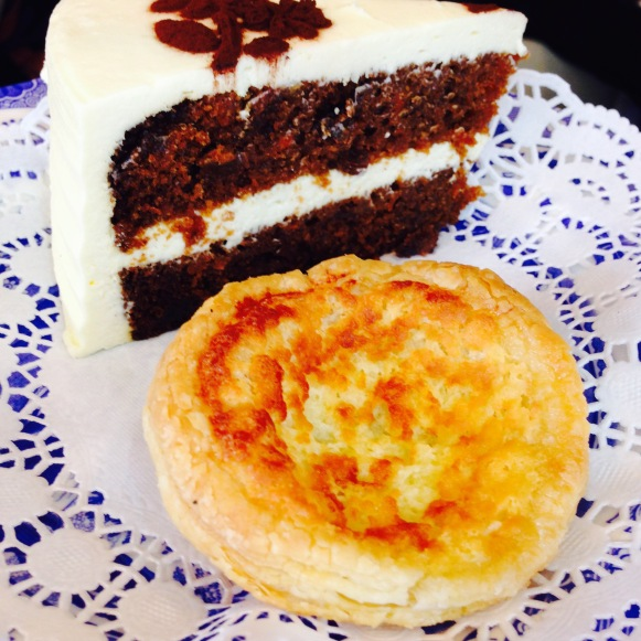 Carrot cake and a Maid of Honour tart
