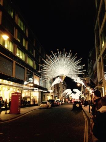 Bond St lights last year