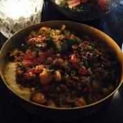 Hummus & Chickpea salsa