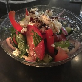 Chunky Israeli salad with feta
