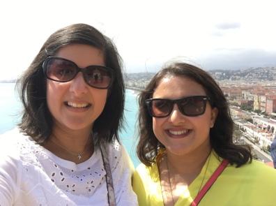 Selfies overlooking Nice